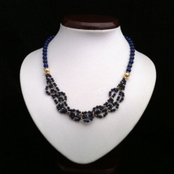 """Necklace """"Braided Beads"""" Lapis lazuli and Goldfilled"""