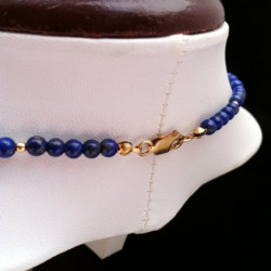 """Necklace """"Bars and Beads"""" Lapis lazuli and Goldfilled"""