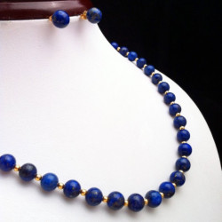 """Lapis lazuli and Gold filled Beads"" SET"