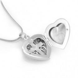 "Locket Pendant Heart ""Cross"""