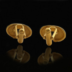 """Precolombian"" Gold-plated  Cufflinks"
