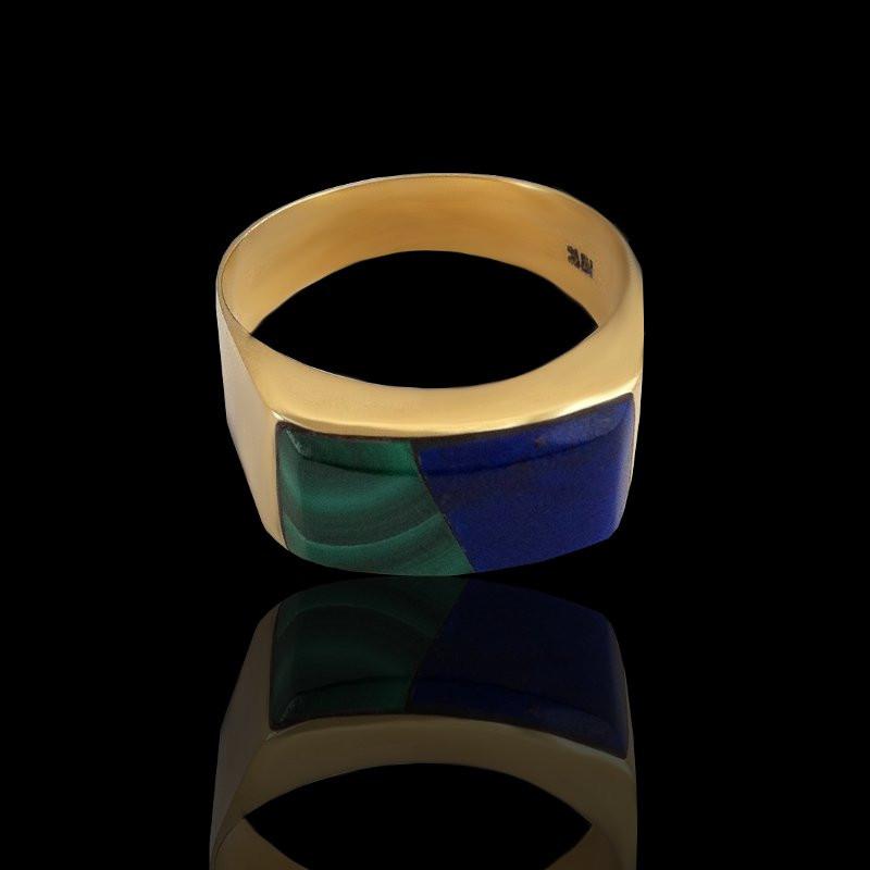 MODERN GOLD-Malachite & Lapislazuli