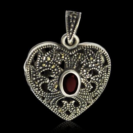 "Locket Pendant Heart ""Queen Louise Marie d'Orleans"""