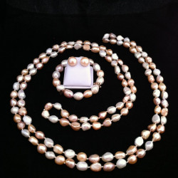 ATARDECER ROSA-Perlas Cultivadas