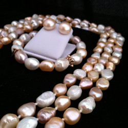 PINK SUNSET-Cultured Pearls