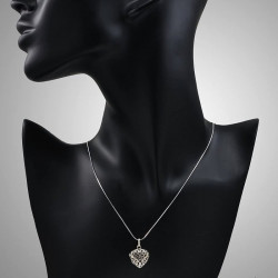 Open Work Heart locket pendant