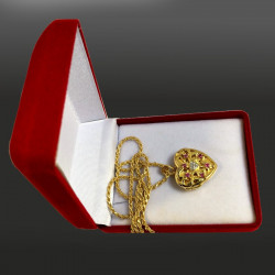 """""""Dragon's treasure"""" locket pendant"""