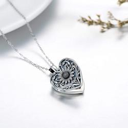 """""""Coeur de tournesol"""" médaillon reliquaire porte photo - ArsAura"""