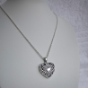 """Princess Alice"" Swarovski crystal Heart Locket Pendant sterling silver"