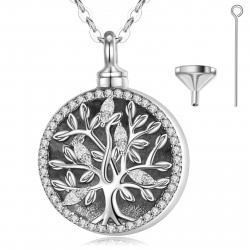 """Ciondolo funebre """"Loral Tree"""" in argento sterling"""
