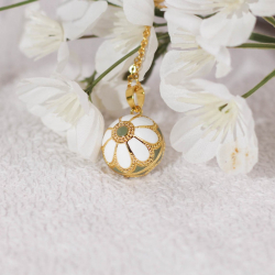"""Pregnancy Bola pendant, Angel caller, Tinkerbell of the Angels big """"The daisy"""""""