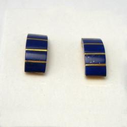 """Earrings """"V Element"""" 18K Gold Lapis lazuli"""